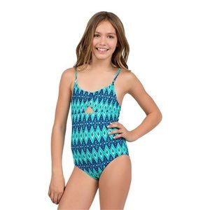 Cleobella Swim - Cleobella Turquoise Tribal Swimsuit Girls Large